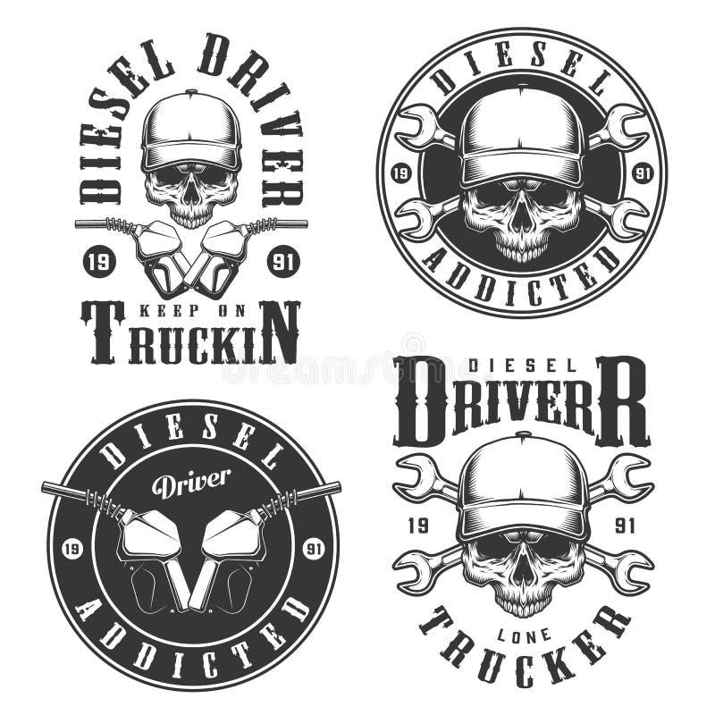 Reeks uitstekende emblemen royalty-vrije illustratie