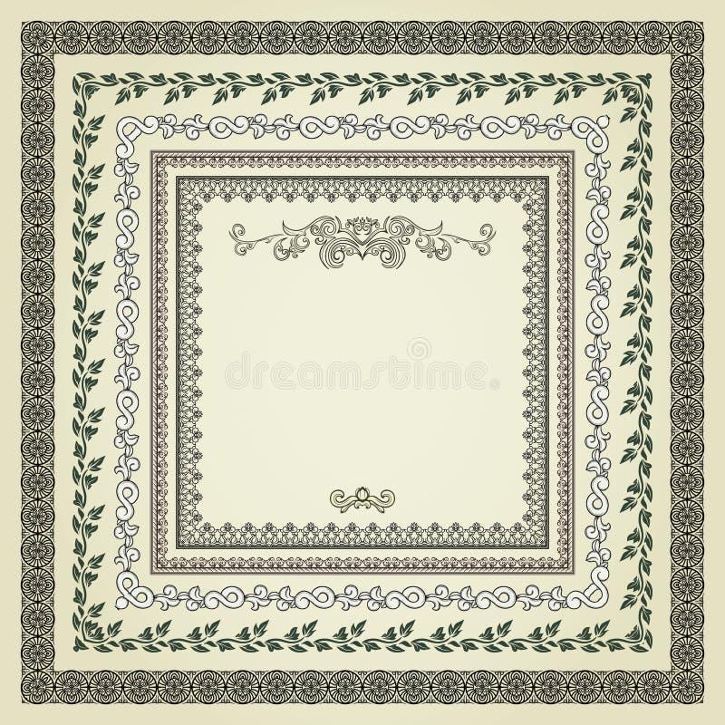 Reeks uitstekende frames vector illustratie