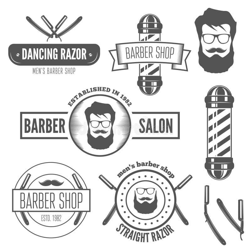 Reeks uitstekende kenteken, embleem of logotype elementen royalty-vrije illustratie