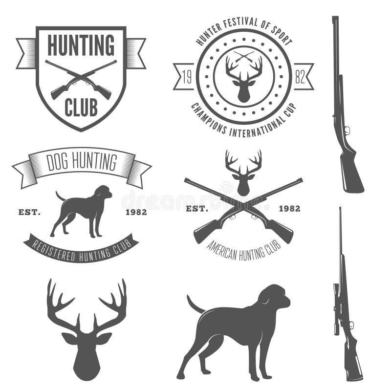 Reeks uitstekende kenteken, embleem of logotype elementen vector illustratie