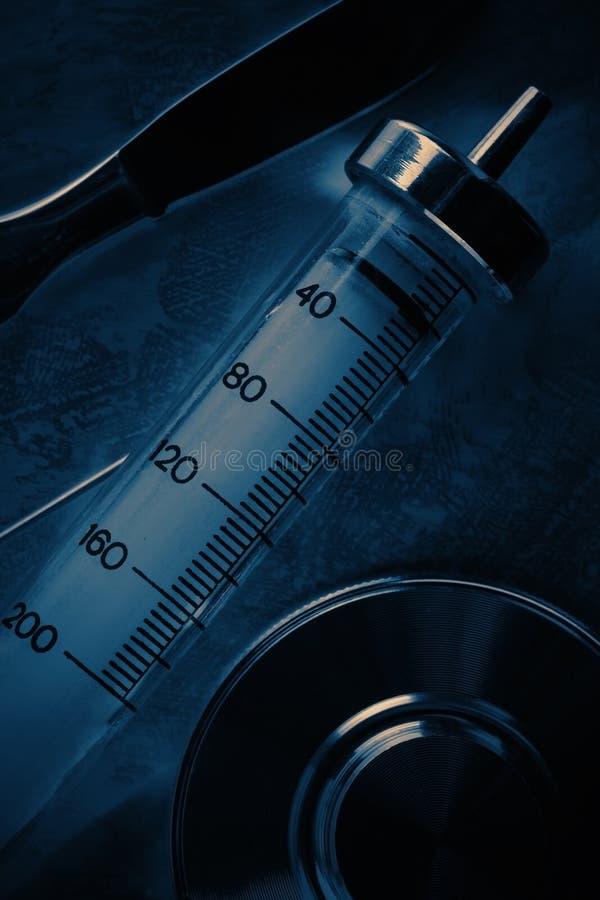 Reeks uitstekende medische instrumenten stock afbeelding