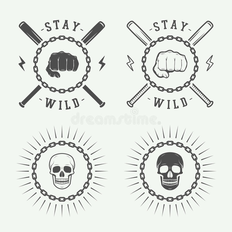 Reeks uitstekende rafting embleem, etiketten en kentekens royalty-vrije illustratie