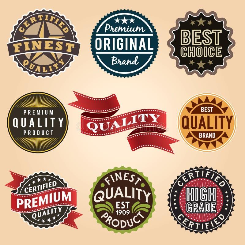 Reeks uitstekende retro etiketten stock illustratie
