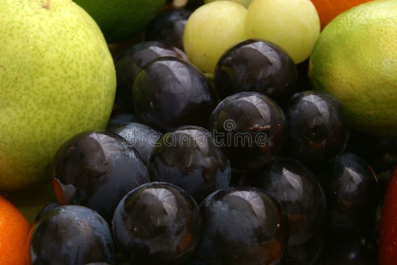 Reeks uva en vruchten royalty-vrije stock afbeelding
