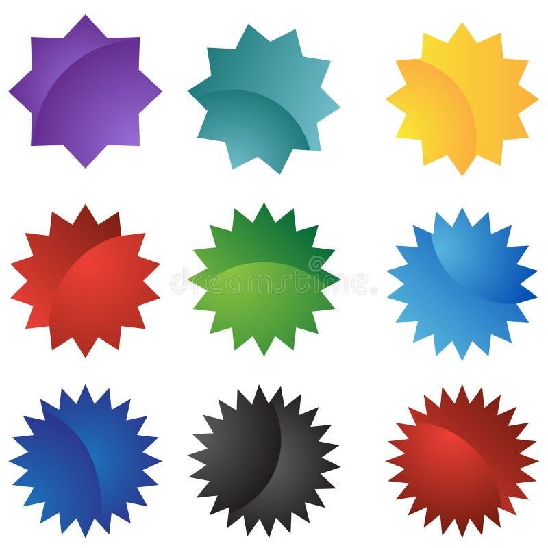 Reeks van 9 Verbindingen vector illustratie