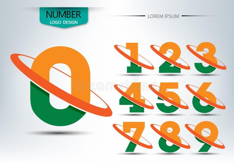 Reeks van aantallenembleem of pictogram, voor gelukkig nieuw jaarconcept vector illustratie