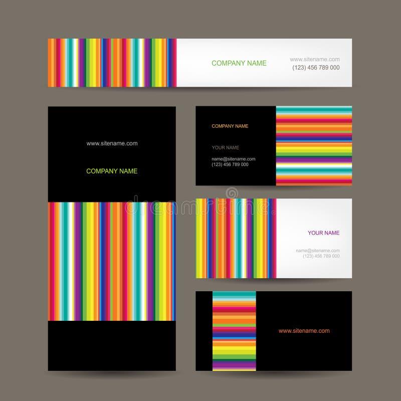 Reeks van abstract creatief adreskaartjesontwerp vector illustratie