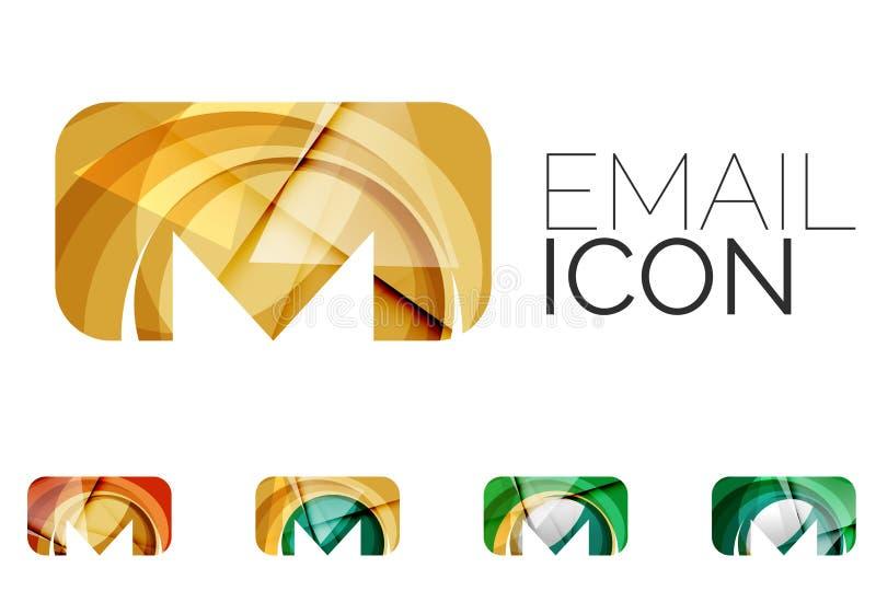 Reeks van abstract e-mailpictogram, zaken logotype royalty-vrije illustratie
