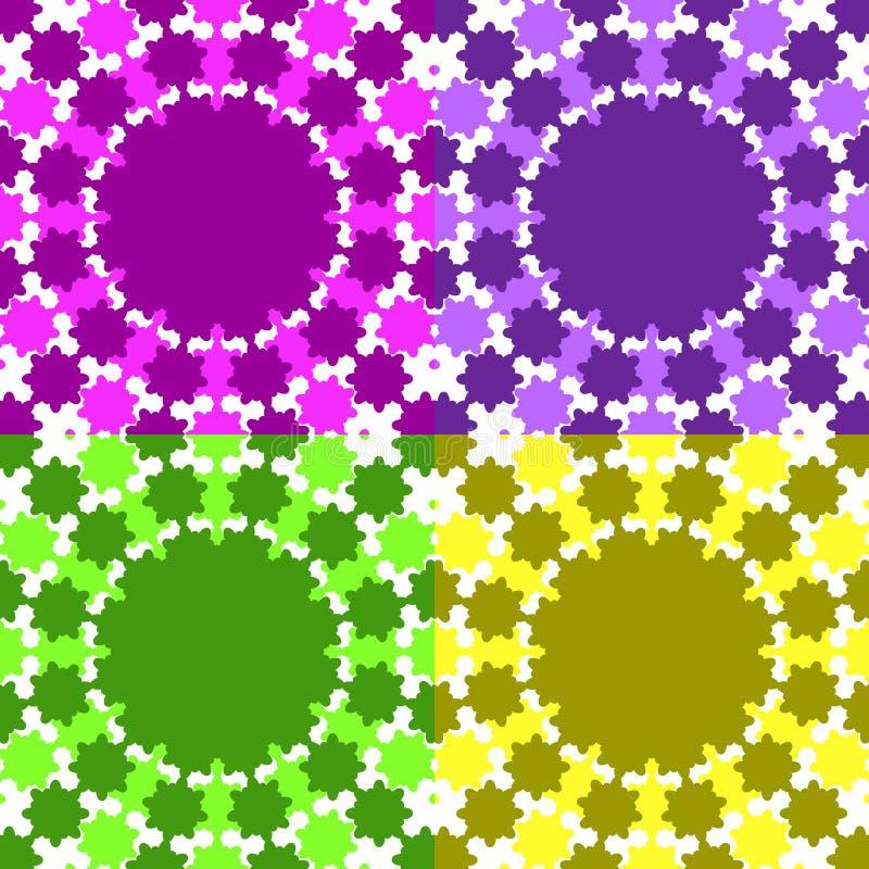 Reeks van abstract roze, Bourgondië, groene, gele achtergronden vector illustratie