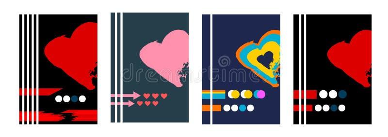 Reeks van 4 abstracte achtergronden vector illustratie