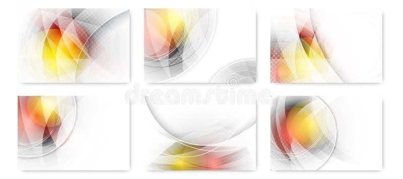 Reeks van abstracte bedrijfs futuristische innovatieachtergrond stock illustratie