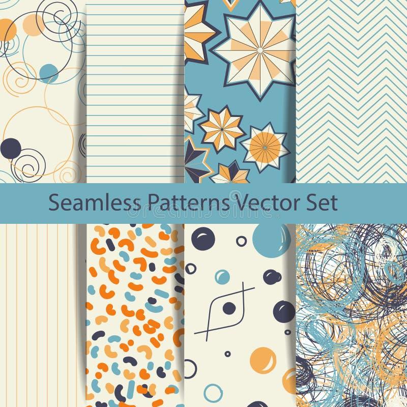 Reeks van acht etnische naadloze patronen Stammen geometrische achtergronden Modern abstract behang Vector illustratie royalty-vrije stock fotografie