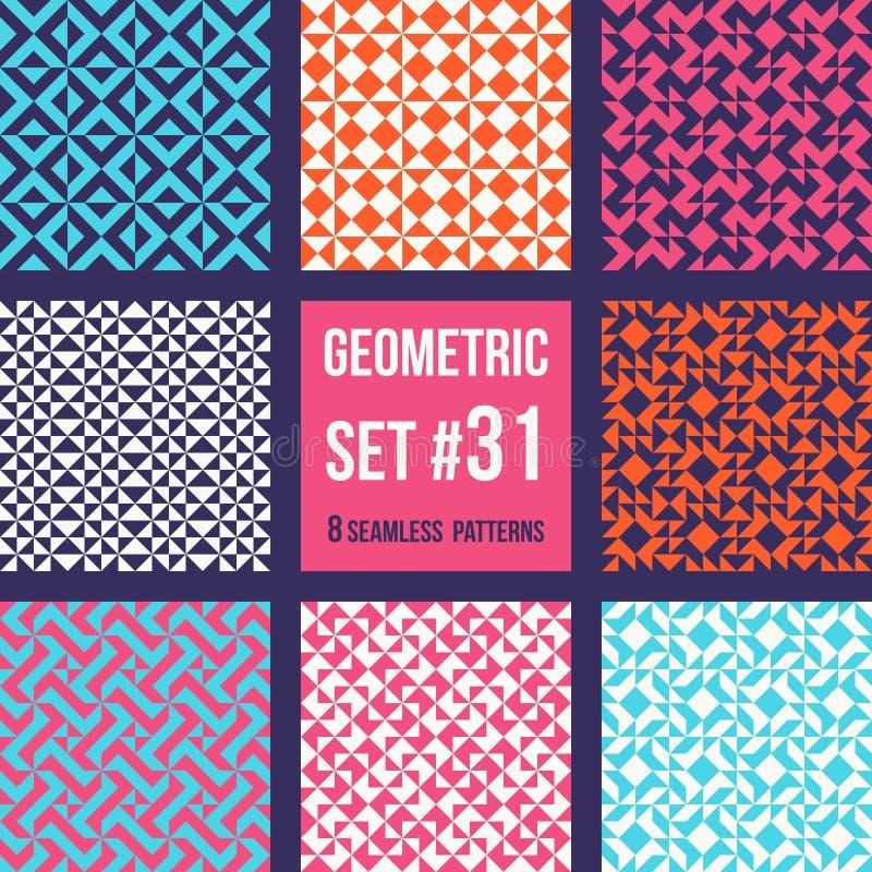 Reeks van acht geometrische patronen vector illustratie