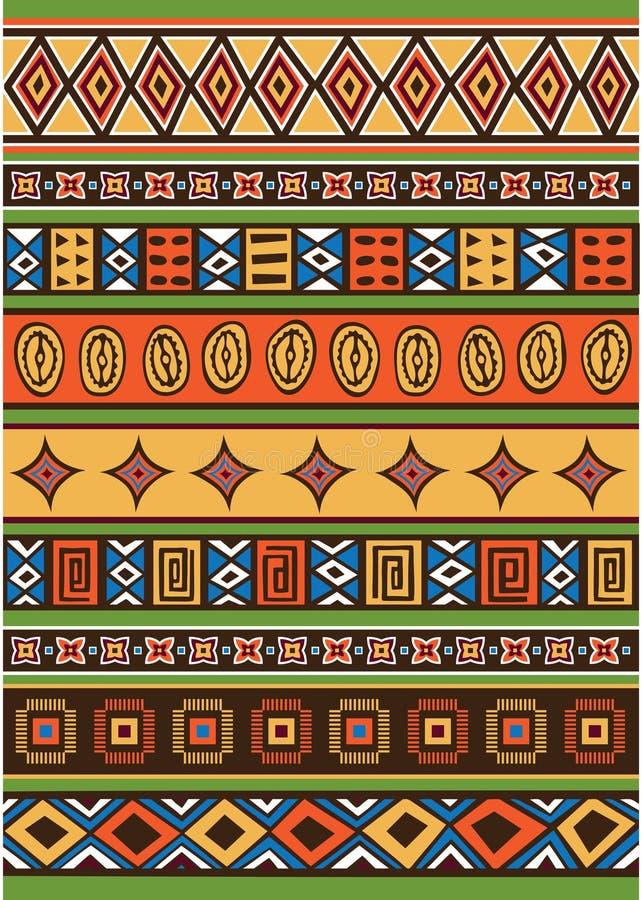 Reeks van Afrikaans patroon royalty-vrije illustratie
