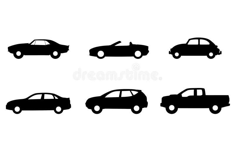 Reeks van autopictogrammen geïsoleerd teken vector illustratie