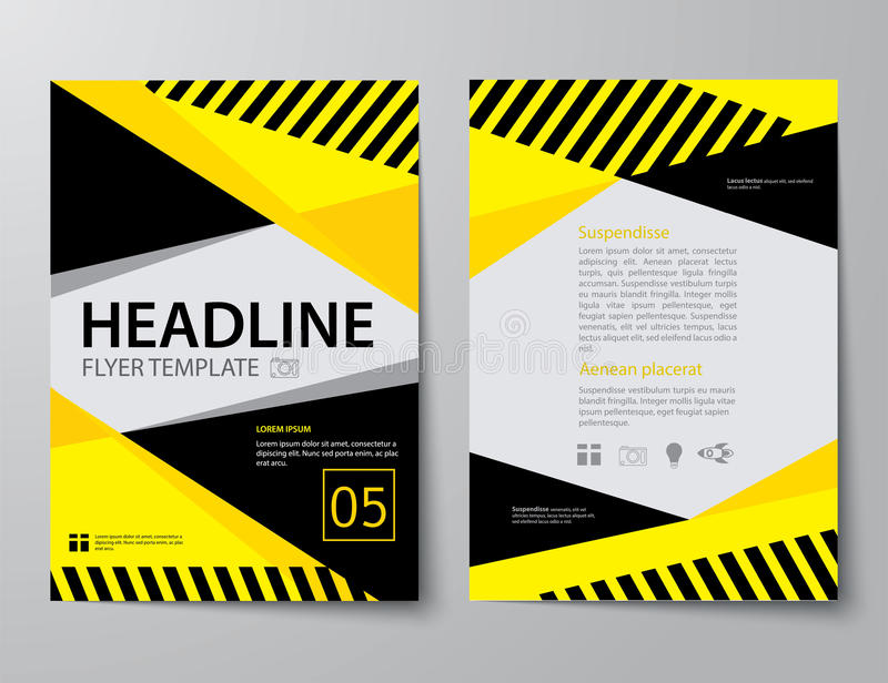 Reeks van bedrijfstijdschriftdekking, vlieger, brochure vlak ontwerp tem vector illustratie