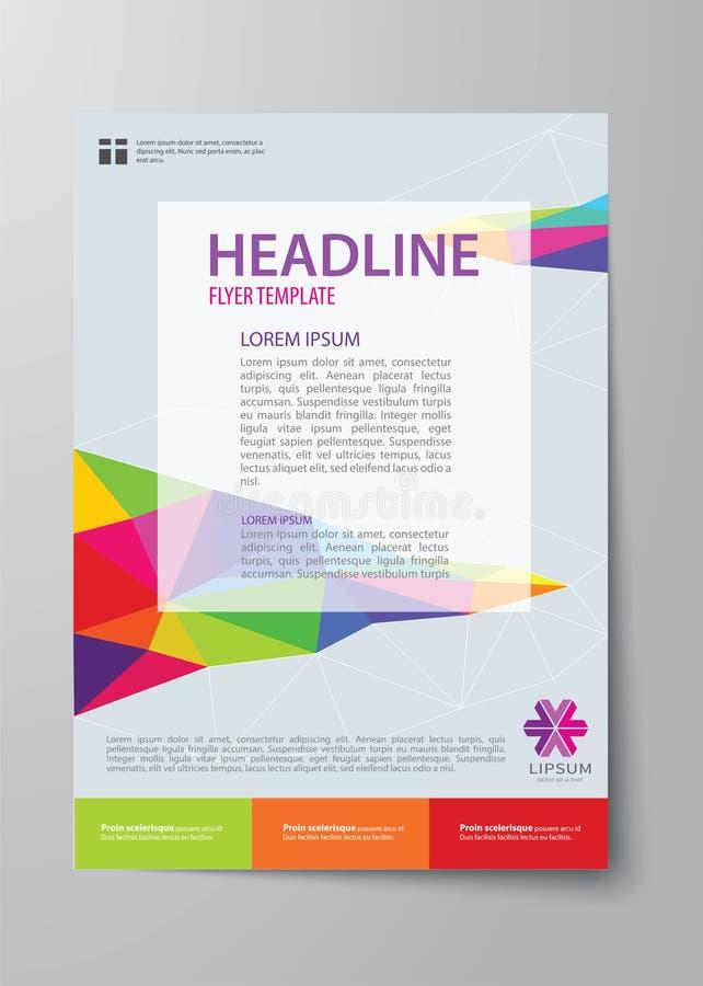 Reeks van bedrijfstijdschriftdekking, vlieger, brochure vlak ontwerp tem royalty-vrije illustratie