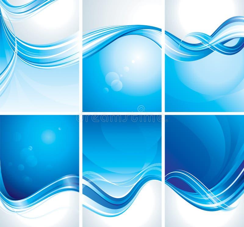 Reeks van Blauwe Achtergrond royalty-vrije illustratie