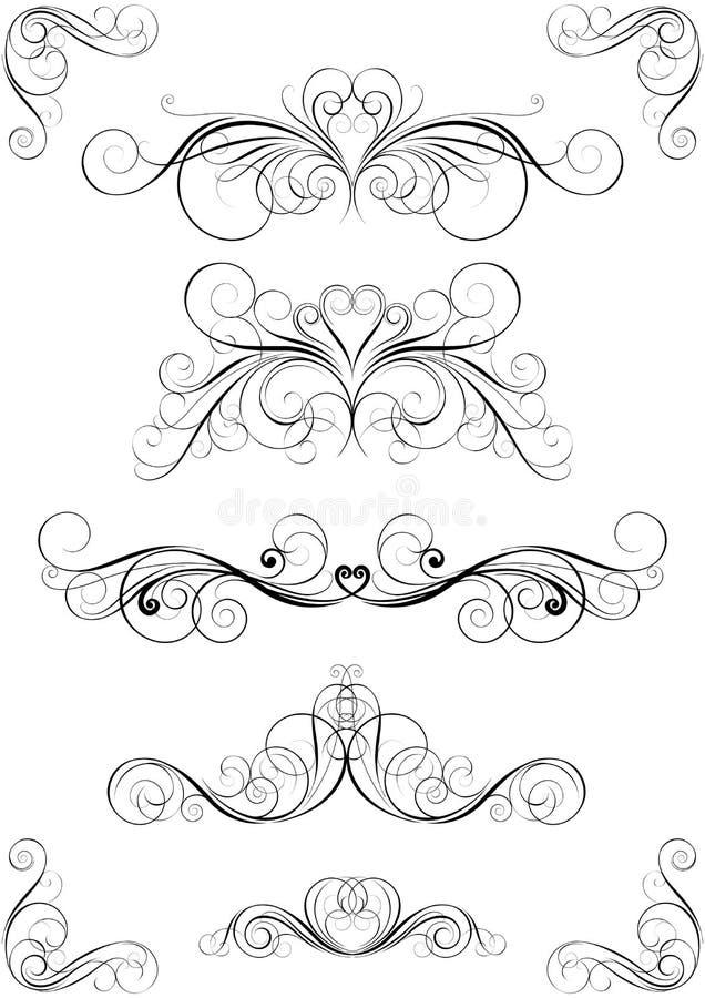Reeks van bloemenontwerp vector illustratie