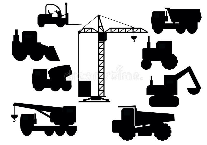 Reeks van bouwmateriaal stock foto