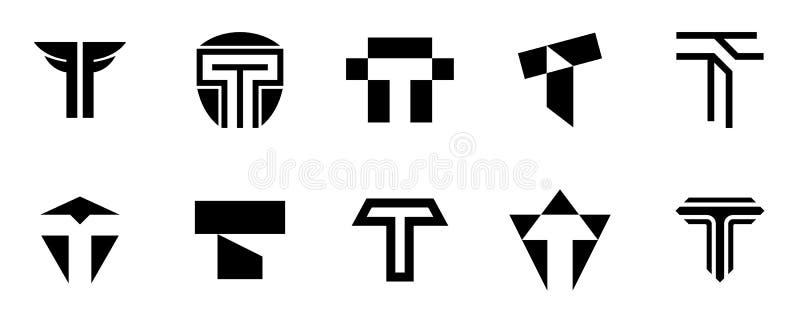 Reeks van brievent embleem stock illustratie