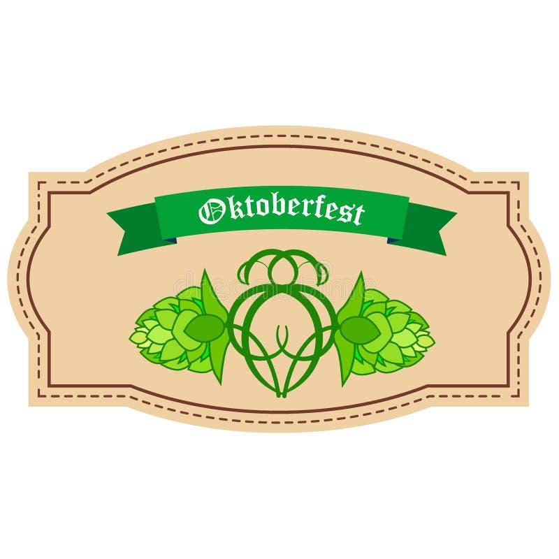 Reeks van brouwerijemblemen, etiketten en ontwerpelement royalty-vrije illustratie