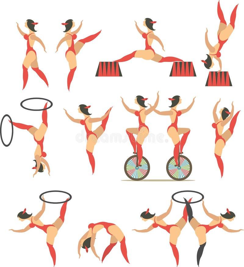 Reeks van circus stock illustratie