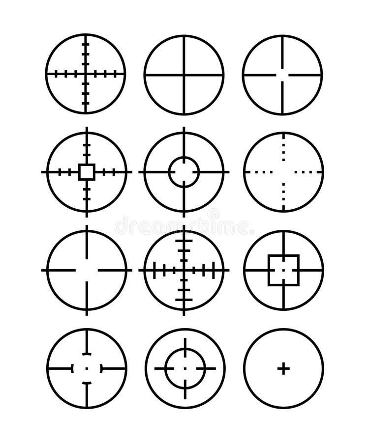 Crosshair royalty-vrije illustratie
