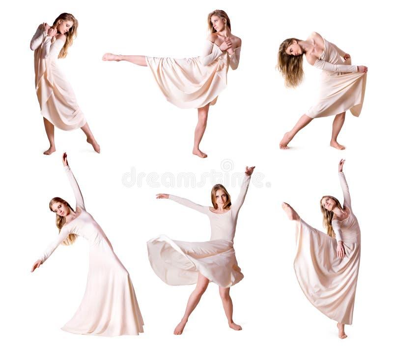 Reeks van danser van de foto's de moderne stijl stock foto