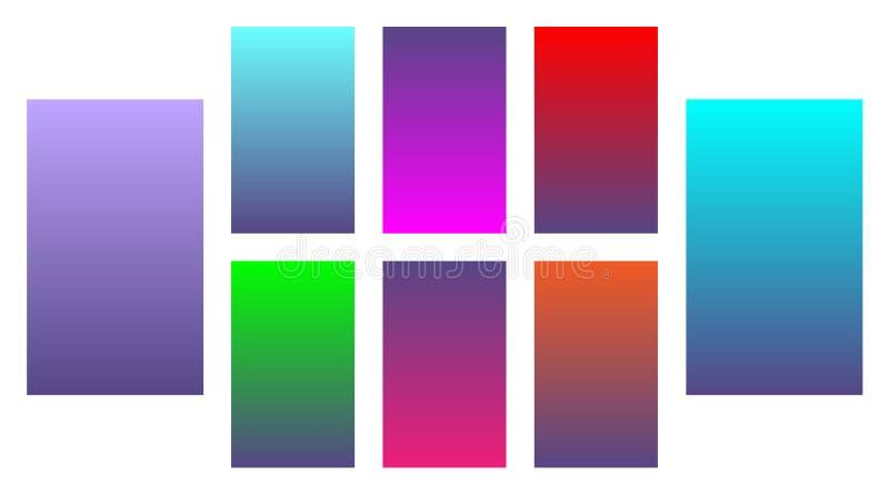 Reeks van de achtergrond van de kleurengradiënt Modern vectorontwerp kleurengradiënten vector illustratie