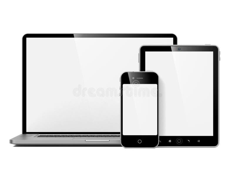 Reeks van de Apparatuur van de Computer. vector illustratie
