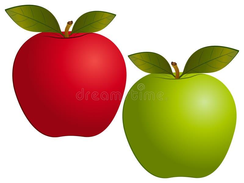 Reeks van de appelen de Vectorillustratie royalty-vrije illustratie