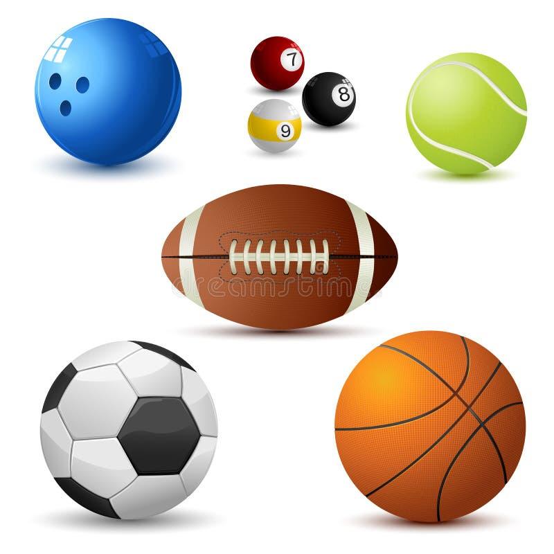 Reeks van de Bal van Sporten stock illustratie