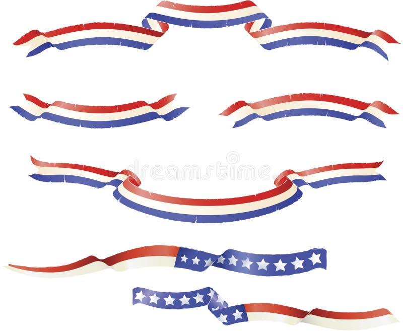Reeks van de Banner van Grunge de Patriottische royalty-vrije illustratie