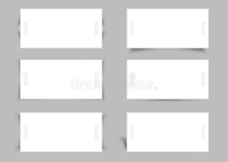 Reeks van de bannersontwerp van de Webschuif. vector illustratie
