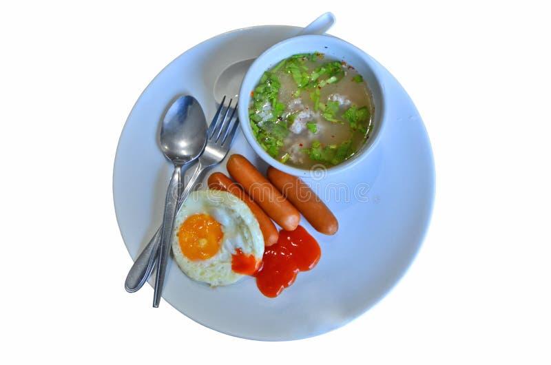 Reeks van de gemakkelijk en snel voedsel de Thaise stijl royalty-vrije stock afbeelding