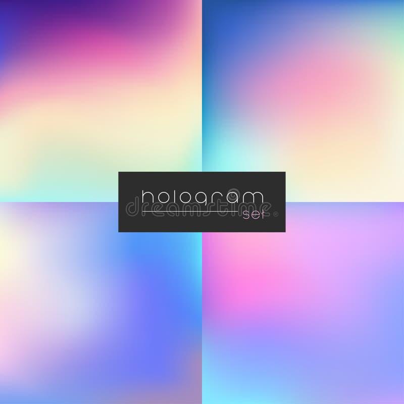 Reeks van de hologram de vector donkere gradiënt vector illustratie