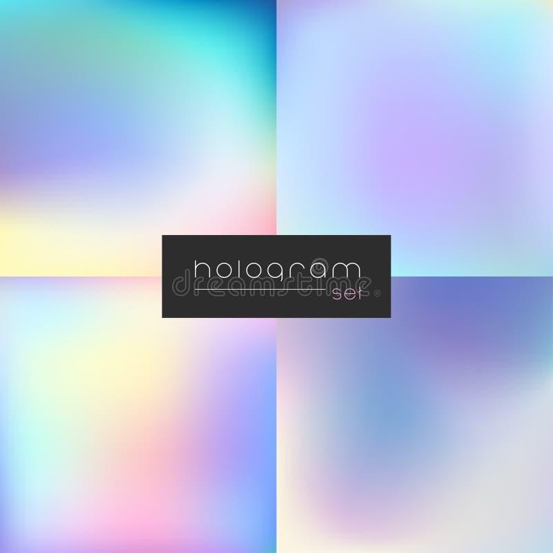 Reeks van de hologram de vector middelgrote gradiënt royalty-vrije illustratie