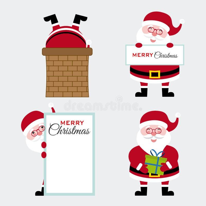 Reeks van de Kerstman royalty-vrije illustratie