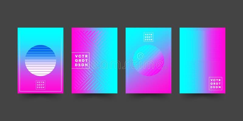 Reeks van de malplaatjesontwerp van de gradiëntdekking voor vlieger, affiche, brochure, typografie of andere drukproducten vector illustratie
