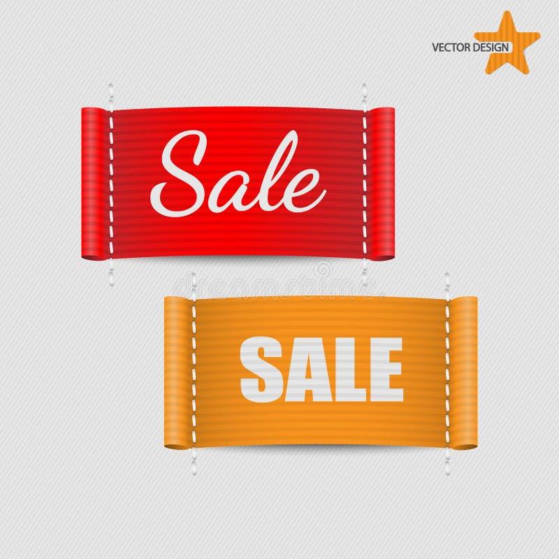 Reeks van de Vector van kledingsetiketten royalty-vrije illustratie