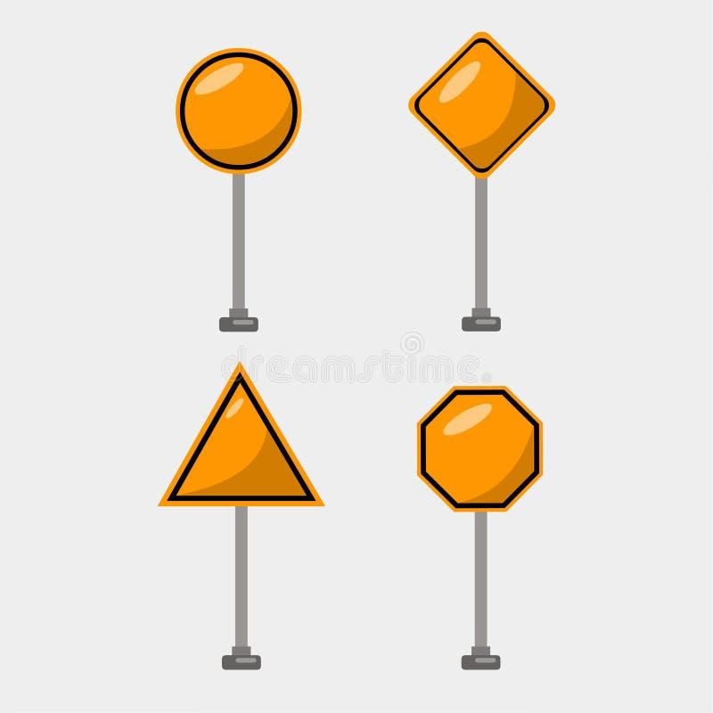 Reeks van de verkeersteken de vectorillustratie vector illustratie
