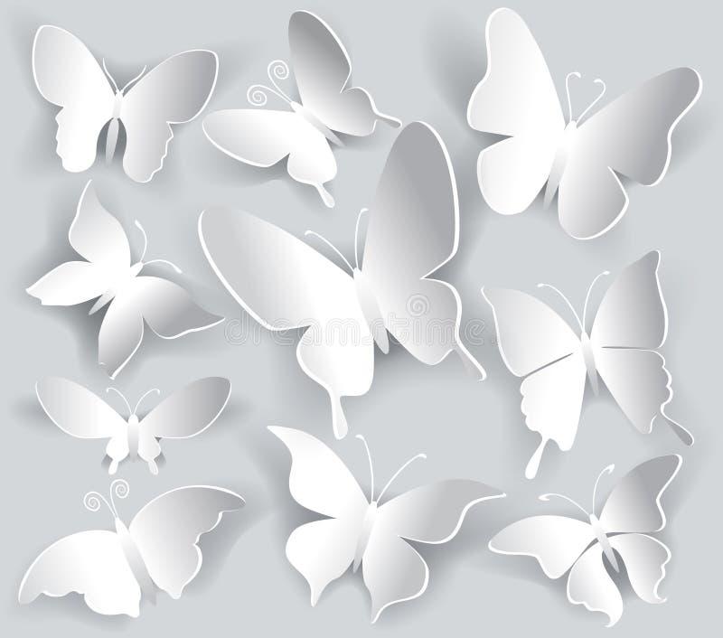 Reeks van document vlinder vector illustratie