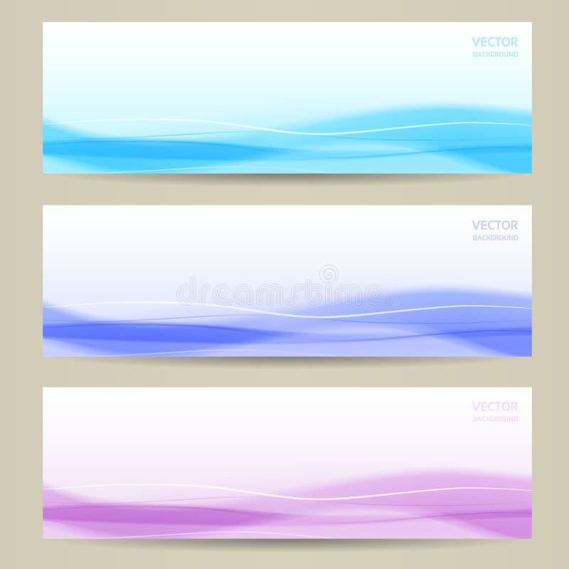Reeks van drie abstracte banners royalty-vrije illustratie