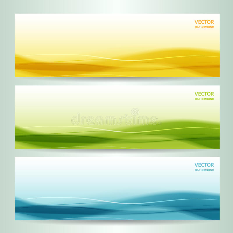 Reeks van drie abstracte banners vector illustratie