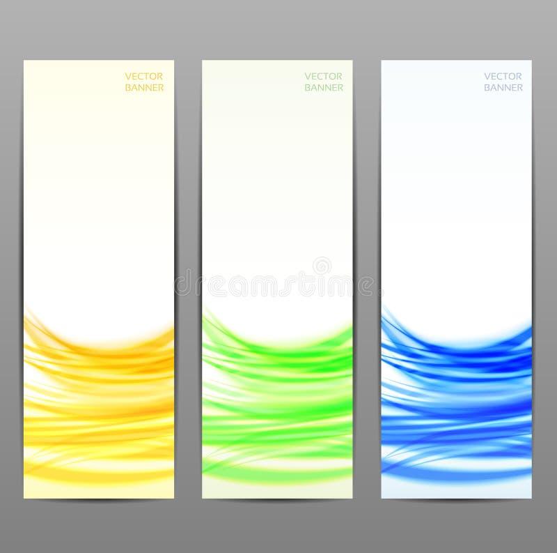 Reeks van drie abstracte banners. stock illustratie