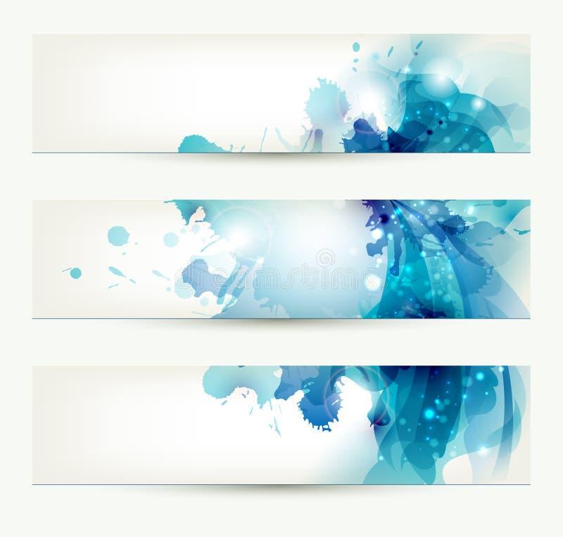 Reeks van drie banners vector illustratie