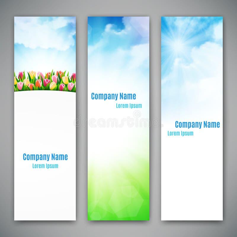 Reeks van drie banners royalty-vrije illustratie
