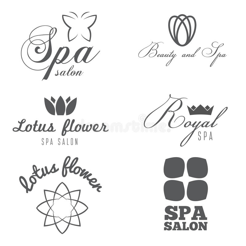 Reeks van embleem, kenteken, embleem, etiket, druk, sticker vector illustratie