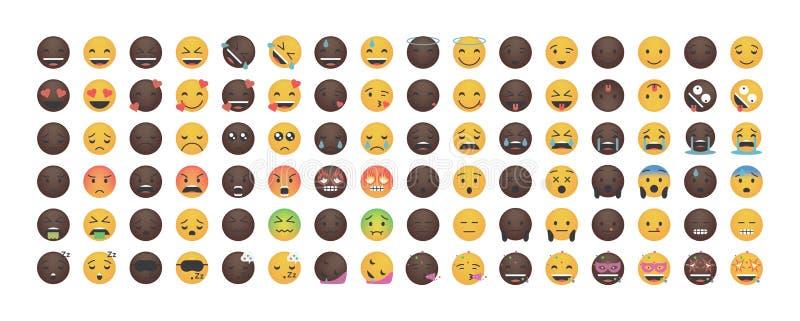 Reeks van Emoticon-vector vector illustratie